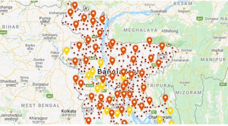 দেশের ৫০ জেলা পুরোপুরি লকডাউন, ১৩ জেলা আংশিক